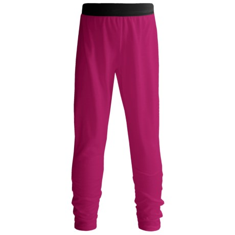 Hot Chillys Pepperskins Base Layer Bottoms - Midweight (For Little and Big Kids) in Razzle