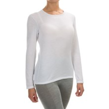 Hot Chillys Pepperskins Base Layer Top - Midweight, Crew Neck, Long Sleeve (For Women) in White - Closeouts