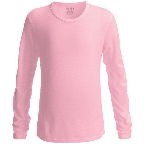 Hot Chillys Pepperskins Base Layer Top - Midweight, Crew Neck, Long Sleeve (For Youth) in 258 Pink