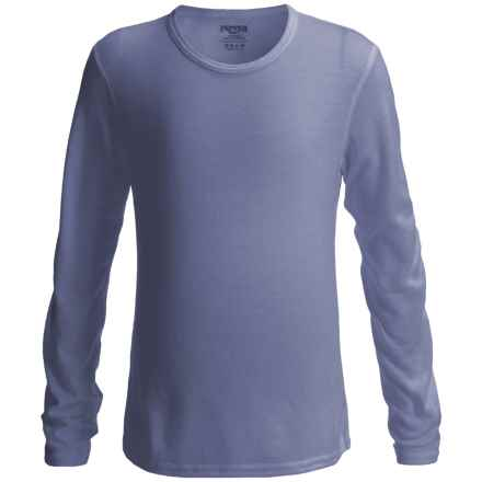 Hot Chillys Pepperskins Base Layer Top - Midweight, Crew Neck, Long Sleeve (For Youth) in Navy - Closeouts