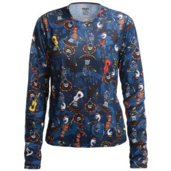 Hot Chillys Pepperskins Print Base Layer Top - Midweight, Crew Neck, Long Sleeve (For Little and Big Kids) in Mariachi/Navy