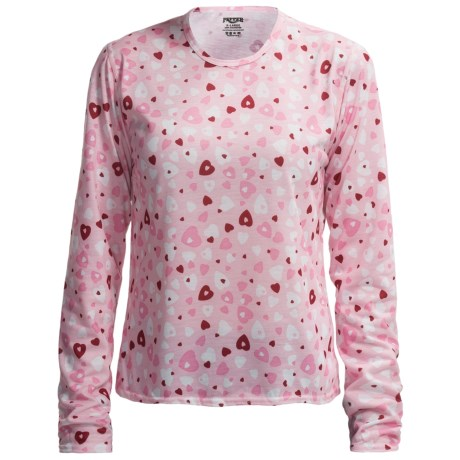 Hot Chillys Pepperskins Print Base Layer Top - Midweight, Crew Neck, Long Sleeve (For Youth) in Heart Dance