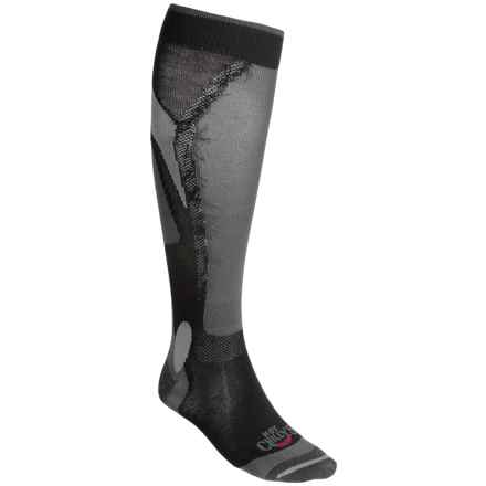 Hot Chillys Premier Lo-Volume Socks - Over-the-Calf (For Men) in Black Flame - Closeouts