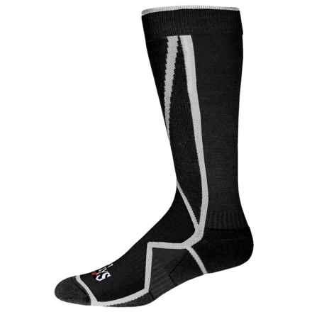 Hot Chillys Premier Low Volume Ski Socks - Over the Calf (For Men) in Black/Grey/Black - Closeouts