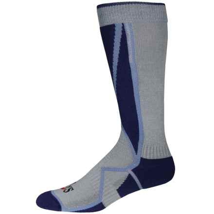 Hot Chillys Premier Mid Volume Ski Socks - Over the Calf (For Men) in Navy/Slate/Grey - Closeouts