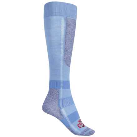 Hot Chillys Premier-Performance Classic Ski Socks - Low Volume, Over the Calf (For Women) in Sky/Heather - Closeouts