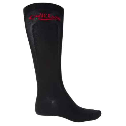 Hot Chillys Premier Performance Compression Socks - Over the Calf (For Men) in Black - Closeouts