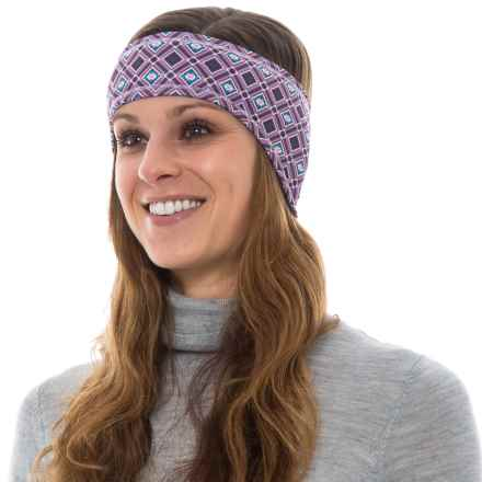 Hot Chillys Printed Fleece-Lined Ear Band (For Women) in Wnter Wonder/Black - Overstock
