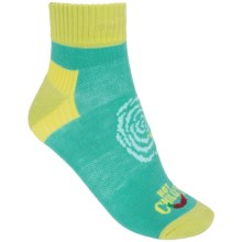 Hot Chillys Rose Lo-Volume Poco Socks - Ankle (For Women) in Rose Swirl/Jade - Closeouts