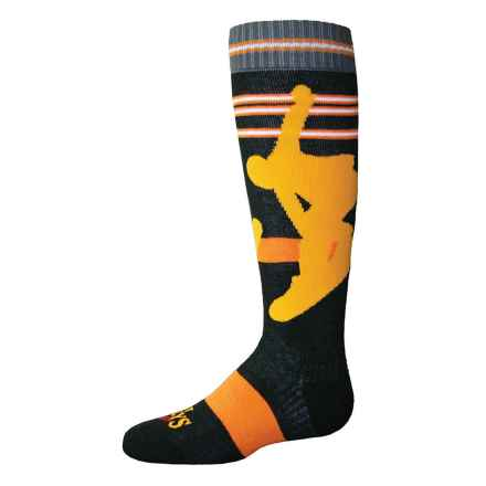 Hot Chillys Snowboarder Midweight Ski Socks - Over the Calf (For Little and Big Kids) in Snowboard/Black - Closeouts