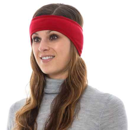 Hot Chillys Solid Ear Band (For Women) in Crimson/Black - Overstock