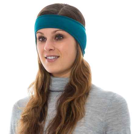 Hot Chillys Solid Ear Band (For Women) in Lagoon/Black - Overstock