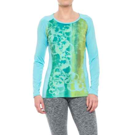 Hot Chillys Sub Print Scoop Neck Shirt - UPF 30, Long Sleeve (For Women) in Fizzy