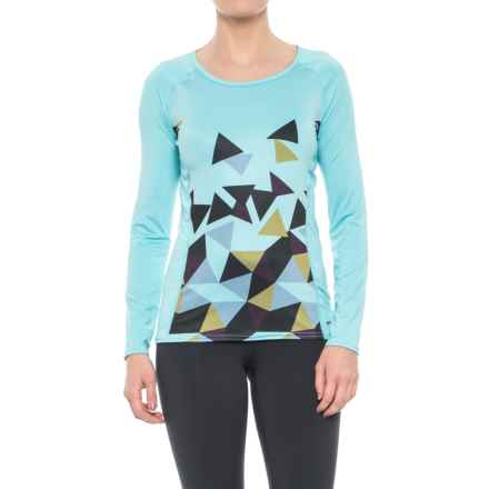 Hot Chillys Sub Print Scoop Neck Shirt - UPF 30, Long Sleeve (For Women) in Magnetic - Closeouts