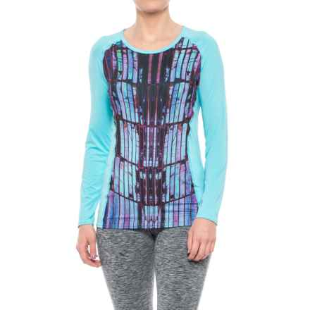 Hot Chillys Sub Print Scoop Neck Shirt - UPF 30, Long Sleeve (For Women) in Reflections - Closeouts