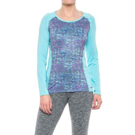 Hot Chillys Sub Print Scoop Neck Shirt - UPF 30, Long Sleeve (For Women) in Static Dream