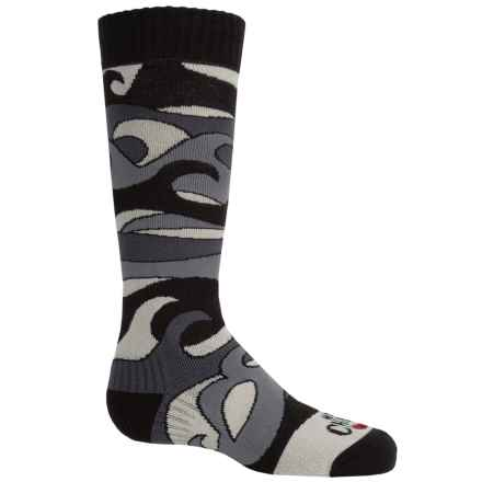 Hot Chillys Surf Midweight Ski Socks - Over the Calf (For Little and Big Kids) in Surf/Black - Closeouts