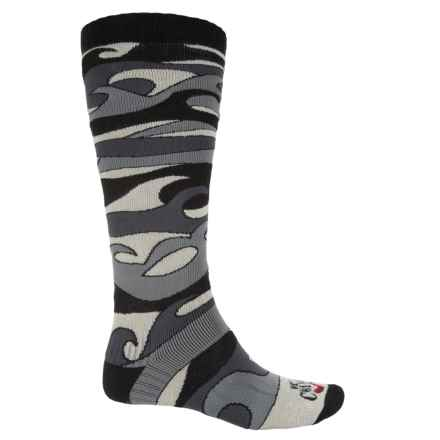 Hot Chillys Surf Midweight Ski Socks - Over the Calf (For Men) in Surf Black - Closeouts