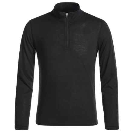 Hot Chillys Thermal Shirt - Zip Neck, Long Sleeve (For Youth) in Black - Closeouts