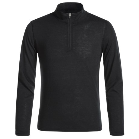 Hot Chillys Thermal Shirt - Zip Neck, Long Sleeve (For Youth) in Black