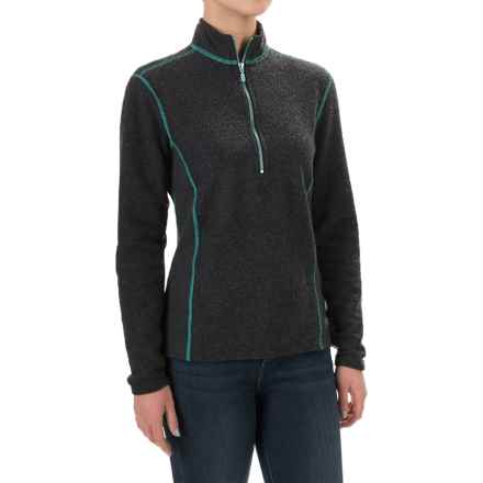 Hot Chillys Venito Fleece Jacket - Barrio Fleece, Zip Neck, Long Sleeve (For Women) in Carbon - Closeouts