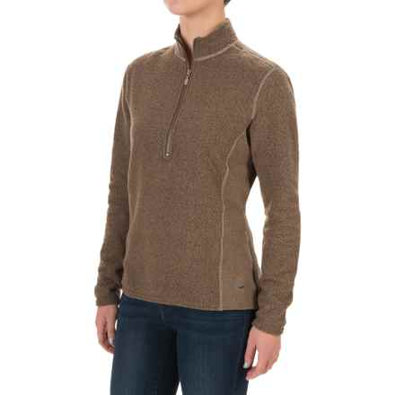 Hot Chillys Venito Fleece Jacket - Barrio Fleece, Zip Neck, Long Sleeve (For Women) in Drift Wood - Closeouts
