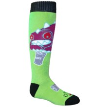 Hot Chillys Wild Thing Midweight Ski Socks - Over the Calf (For Little and Big Kids) in Wild Thing/Slime - Closeouts