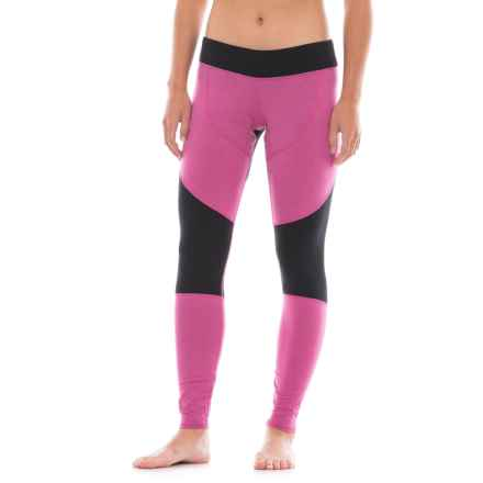 Hot Chillys Wool-Blend Stretch Tights (For Women) in Heather Razzle/Black - Closeouts