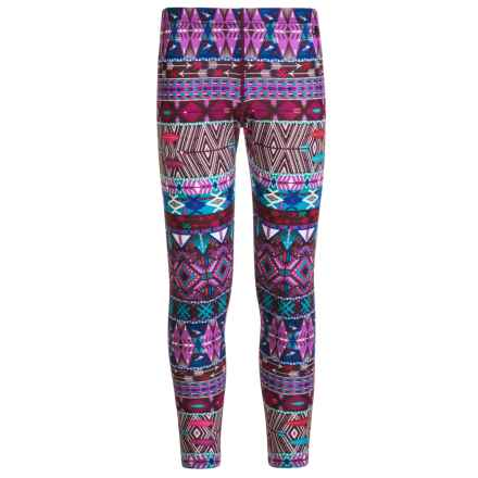 Hot Chillys Youth Midweight Base Layer Pants - Fiesta Print (For Little and Big Kids) in Pastel Pop - Closeouts