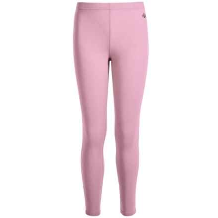 Hot Chillys Youth Originals II Ankle Tight Leggings - UPF 30 + (For Little and Big Kids) in Pink - Closeouts
