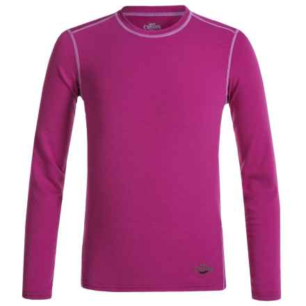 Hot Chillys Youth Originals II MTF Base Layer Top - UPF 30+, Long Sleeve (For Little and Big Kids) in Candyland Plum - Closeouts