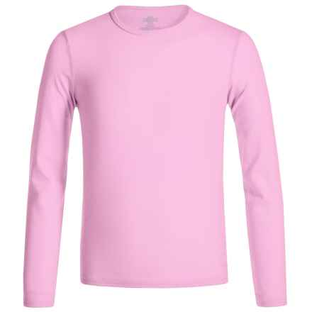 Hot Chillys Youth Originals II MTF Base Layer Top - UPF 30+, Long Sleeve (For Little and Big Kids) in Pink - Closeouts