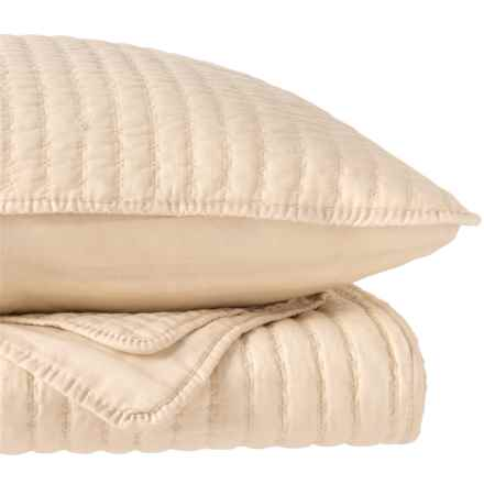 Hotel 21 X-Stitch Quilt Set - Full-Queen in Oatmeal - Closeouts
