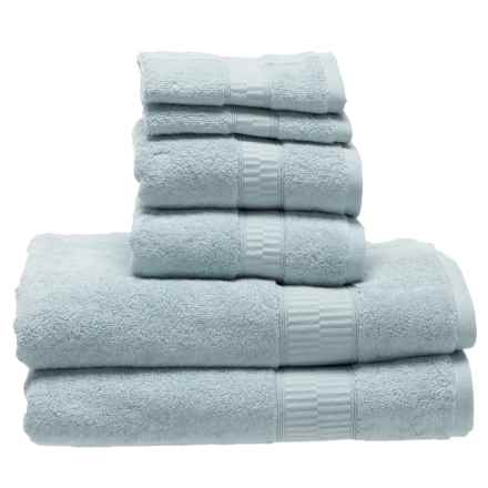 Hotel Balfour Modal Zero Twist Towel Set - 6-Piece in Seablue - Closeouts
