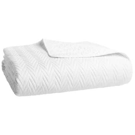Hotel Balfour Room Chevron Quilt - Full-Queen in Bright White - Closeouts