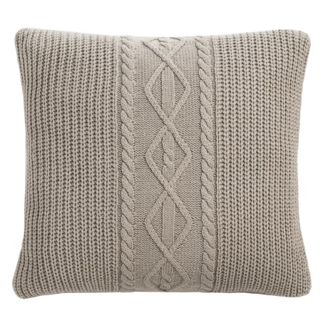 "Hotel Balfour Sweater-Knit Throw Pillow - 18x18"" in Silver Grey"