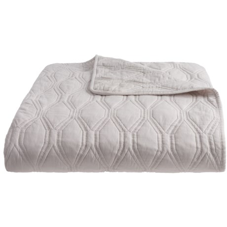 Hotel Collection Ritz Textured Quilt - Full-Queen in Grey