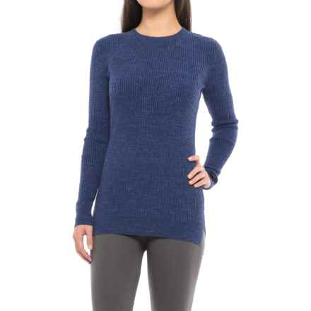 Hottotties Ribbed Lounge Sweater (For Women) in Navy/Black - Closeouts