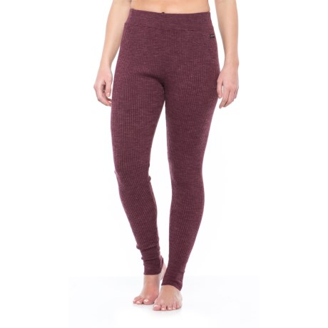 Hottotties Sweater Leggings (For Women) in Burgundy/Black