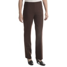 Houndstooth Pull-On Pants (For Women) in Brown - 2nds
