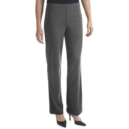 Houndstooth Pull-On Pants (For Women) in Grey - 2nds