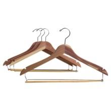 Household Essentials Cedarfresh Cedar Hanger with Locking Trouser Bar - 4-Pack in Cedar - Overstock