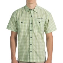 Howler Brothers Aransas Shirt - Button-Up, Short Sleeve (For Men) in Green Plaid - Closeouts