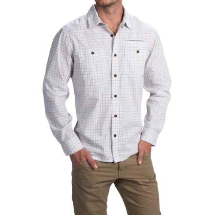 Howler Brothers Aransas Shirt - Long Sleeve (For Men) in Foursquare Plaid/Revere - Closeouts