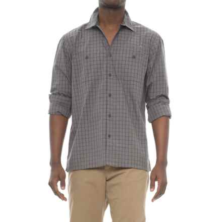 Howler Brothers Aransas Shirt - Long Sleeve (For Men) in Shinebox Plaid/Grey/Purple - Closeouts