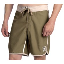 Howler Brothers Bruja Boardshorts (For Men) in Hideaway Olive/Tan - Closeouts
