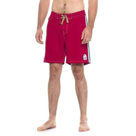 Howler Brothers Chandler Old-School Boardshorts (For Men) in Red - Closeouts