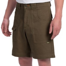 Howler Brothers Cornerstone Shorts - Cotton Canvas (For Men) in Thicket Green - Closeouts