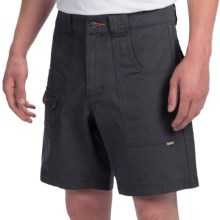 Howler Brothers Cornerstone Shorts - Cotton Canvas (For Men) in Zephyr Grey - Closeouts