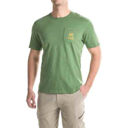 Howler Brothers Flocked Hermanos T-Shirt - Short Sleeve (For Men) in Heather Green - Closeouts